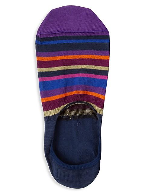 No-Show Striped Socks
