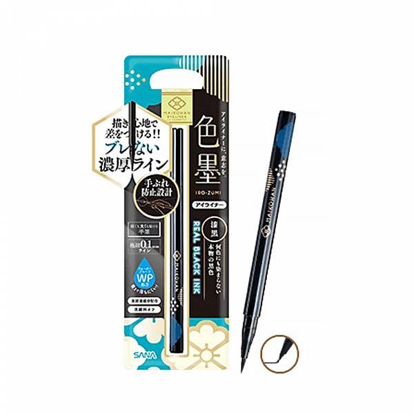 日本SANA莎娜 舞孃眼線液筆 01漆黑 17g 482182【UR8D】