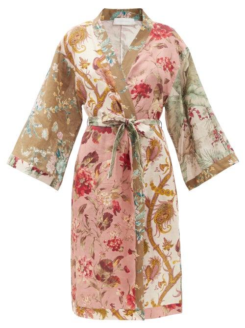 Zimmermann - Cassia Floral-print Cotton-voile Wrap Dress - Womens - Multi
