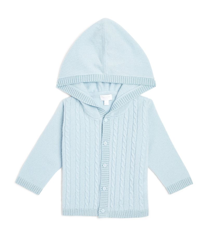 Harrods Of London Cashmere Hooded Cardigan (0-18 Months)
