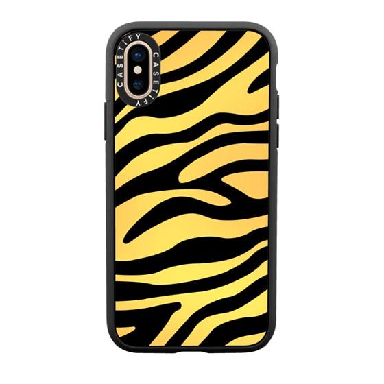 CASETiFY iPhone Xs Casetify Black Impact Resistance Case - YELLOW ZEBRA