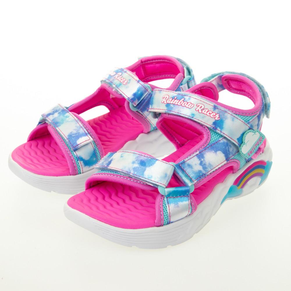 SKECHERS 女童涼拖鞋系列燈鞋 RAINBOW RACER SANDALS - 302975LBLU