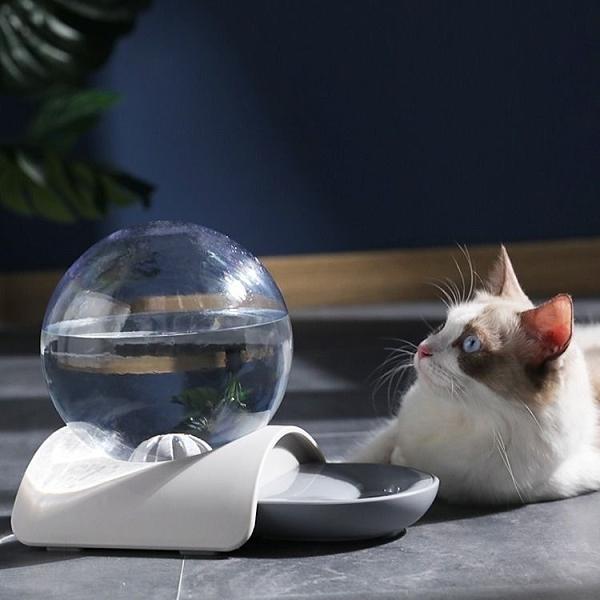 一佳寵物館 泡泡飲水器寵物自動飲水機貓咪泰迪喂水喝水器水碗貓狗飲水盆用品