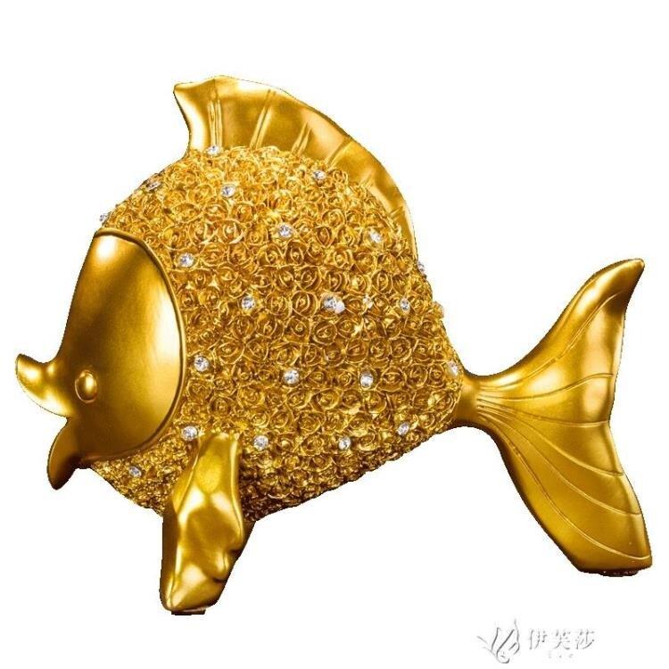 新品上市 限時優惠歐式創意魚擺件電視櫃創意酒櫃玄關家居家裝飾品客廳工藝品