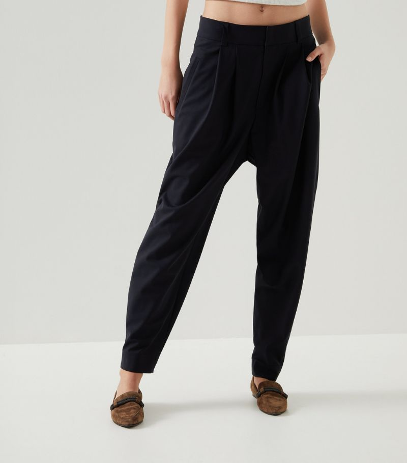 Brunello Cucinelli Virgin Wool-Blend Pleated Trousers