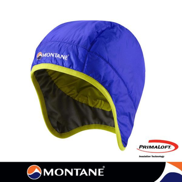 【Montane 英國 FireBall火球 Primaloft 保暖帽《藍》】HFIHACOB/防風透氣護耳/悠遊山水