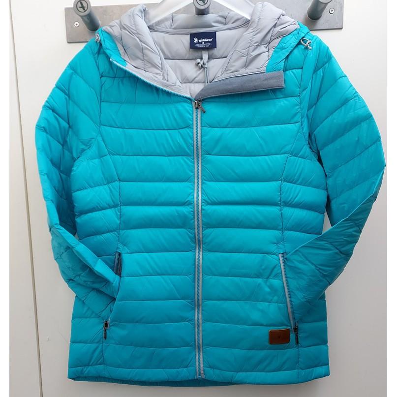WILDLAND荒野 女 700FP連帽輕羽絨衣 土耳其藍