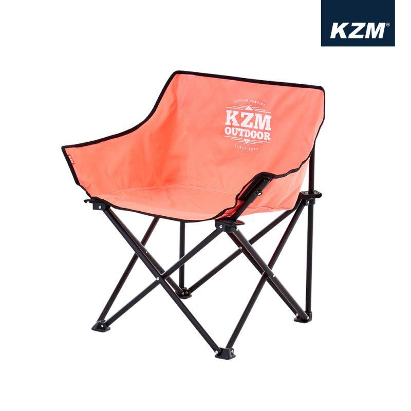 【KAZMI】極簡時尚休閒折疊椅(珊瑚粉)