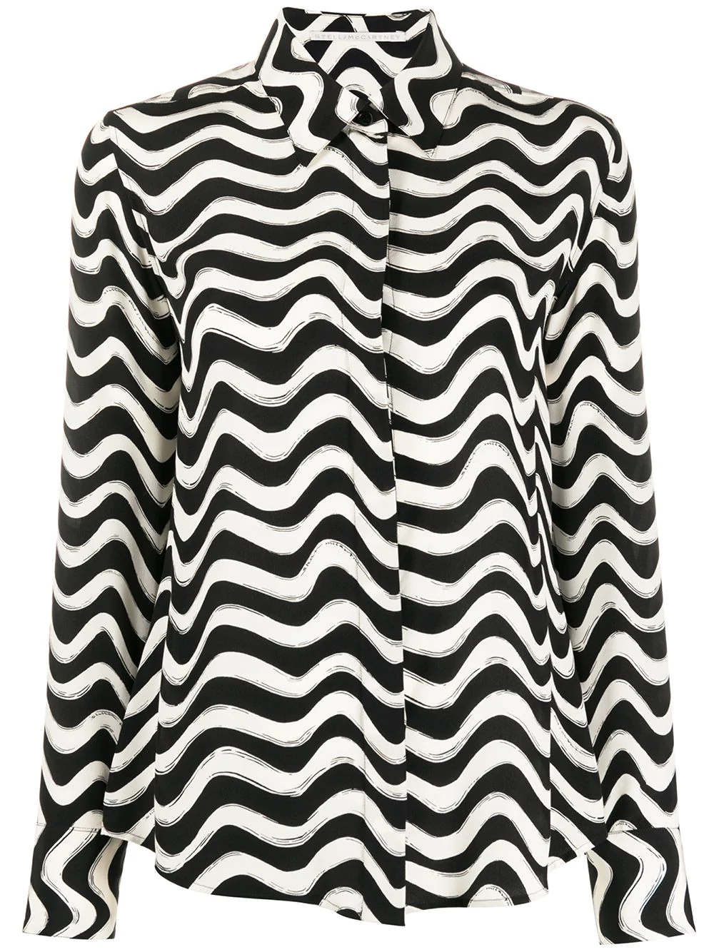 STELLA MCCARTNEY wave-print long-sleeve shirt