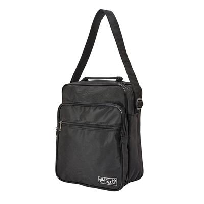 WAIPU MIT台灣製造 多功能側背包 男女休閒包 跨肩包 商務直式側背包 斜背包(黑色)03-024