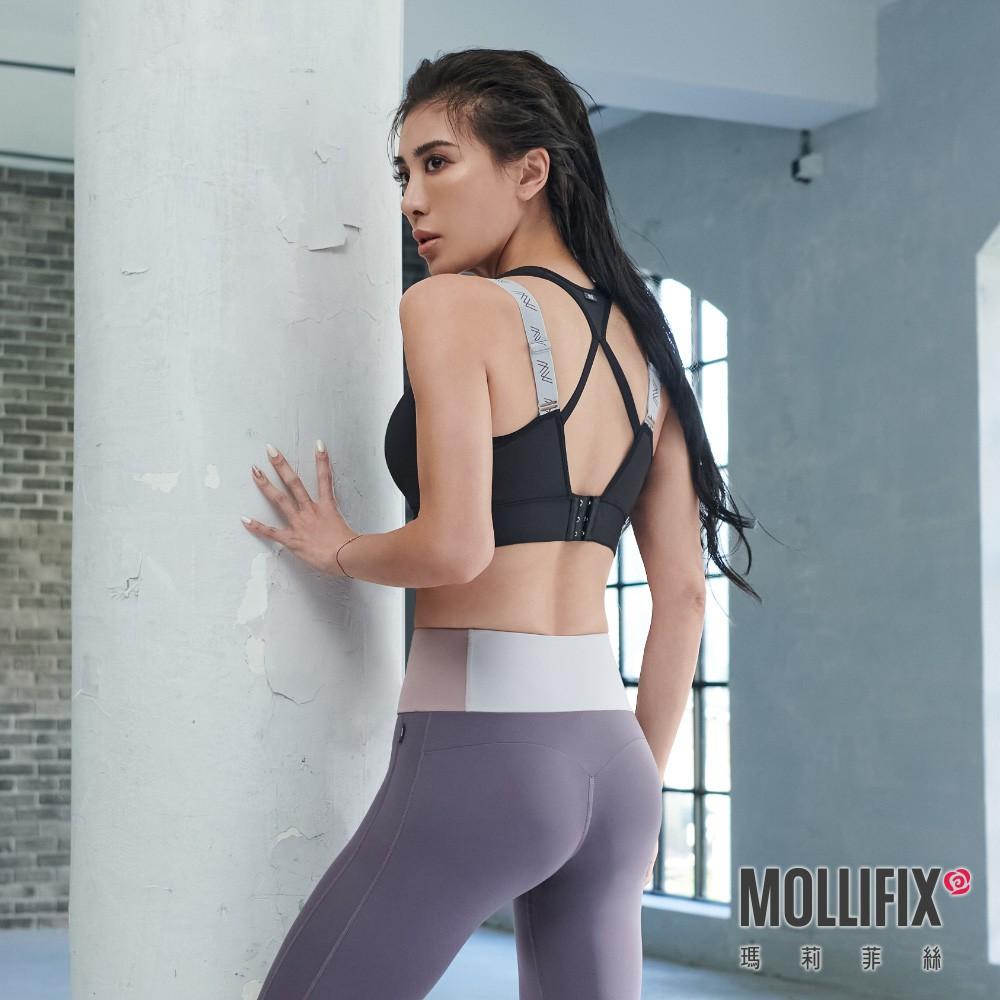 Mollifix 瑪莉菲絲 TRULY 高強度雙肩織帶運動內衣 (黑) 小禎聯名設計