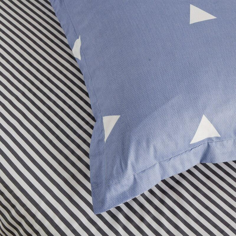 40支全棉斜紋布料時尚簡約四件套零售被套枕套