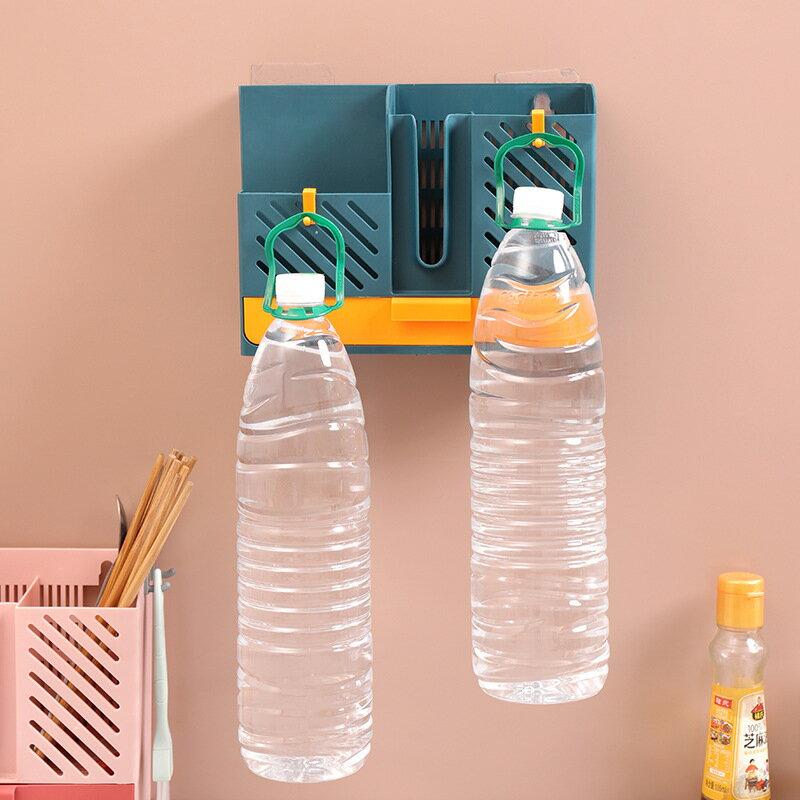 壁掛筷子收納盒瀝水筷子籠家用廚房免打孔餐具置物架筷籠子