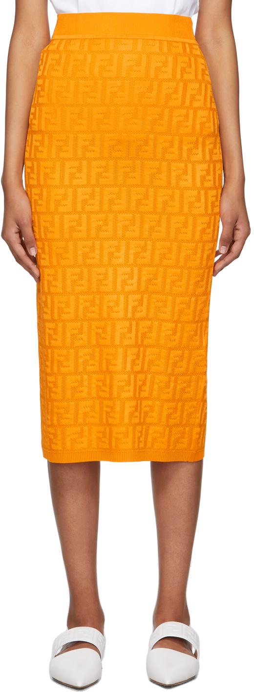 Fendi 橙色 Forever Fendi 半身裙