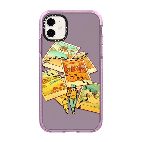 CASETiFY iPhone 11 Impact Case - Wanderlust Polaroid