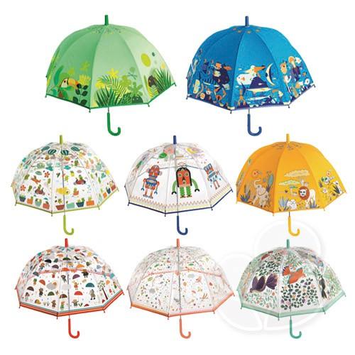 DJECO智荷 藝術插畫雨傘/透明雨傘-多款可選【佳兒園婦幼館】