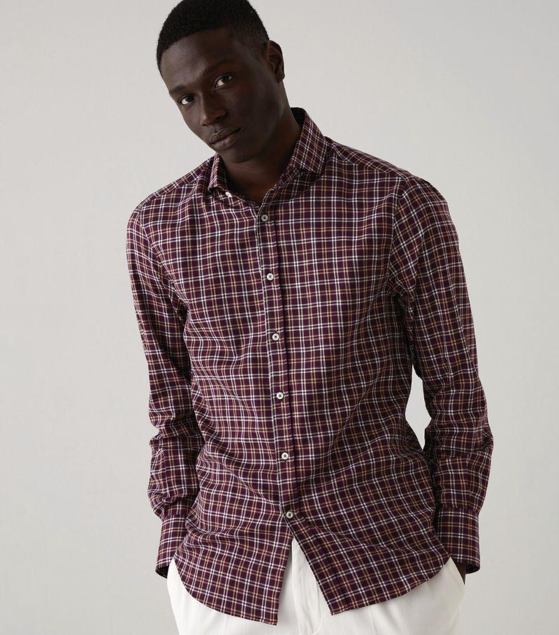 Brunello Cucinelli Cotton Check Shirt