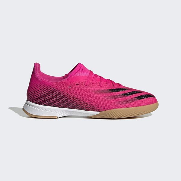 Adidas X Ghosted.3 In J [FW6925] 大童鞋 室內足球鞋 輕量 透氣 支撐 愛迪達 桃紅