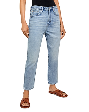 Free People Stovepipe Jeans in Mid Indigo
