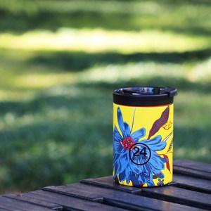 義大利 24Bottles 保溫隨行杯 350ml - 點翠菊