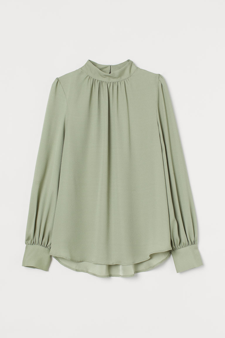 H & M - 寬鬆女衫 - 綠色