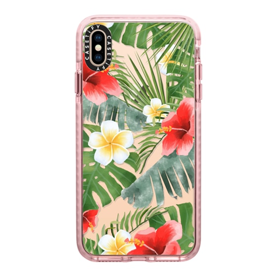 CASETiFY iPhone Xs Max Impact Case - tropical vibe (transparent)