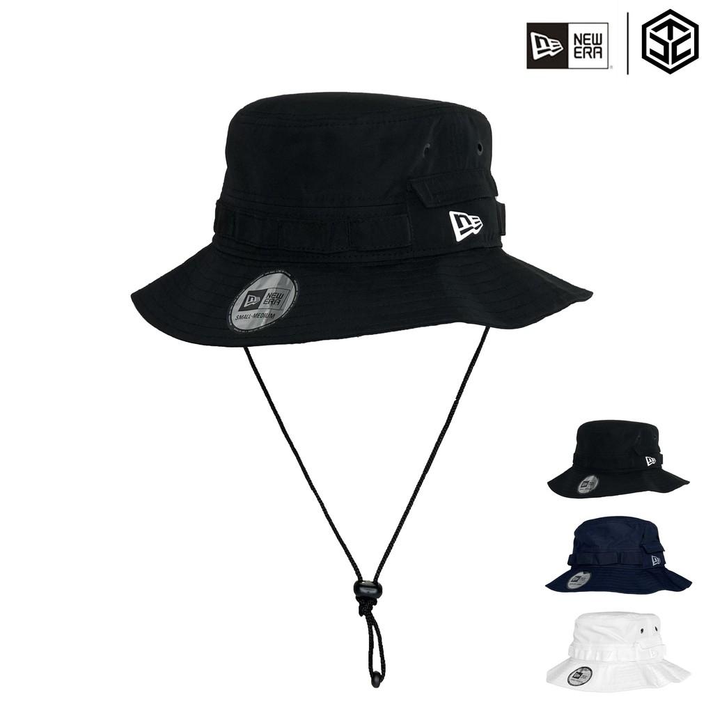 NEW ERA 戶外 吸汗/速乾/抗紫外線/抗菌 漁夫帽 探險帽 口袋漁夫帽 多色 掛繩漁夫帽【TCC】