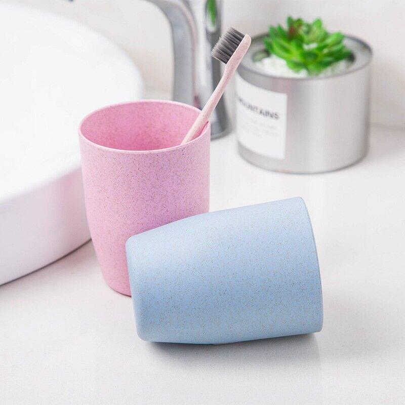 小麥秸稈漱口杯水杯情侶刷牙杯牙缸 創意牙刷杯洗漱杯子禮品