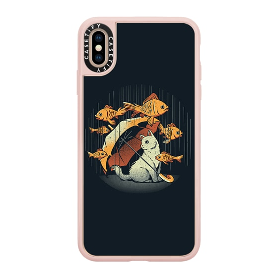 CASETiFY iPhone Xs Max Grip Case - A Day In A Cat's Life Golden Fish In The Rain