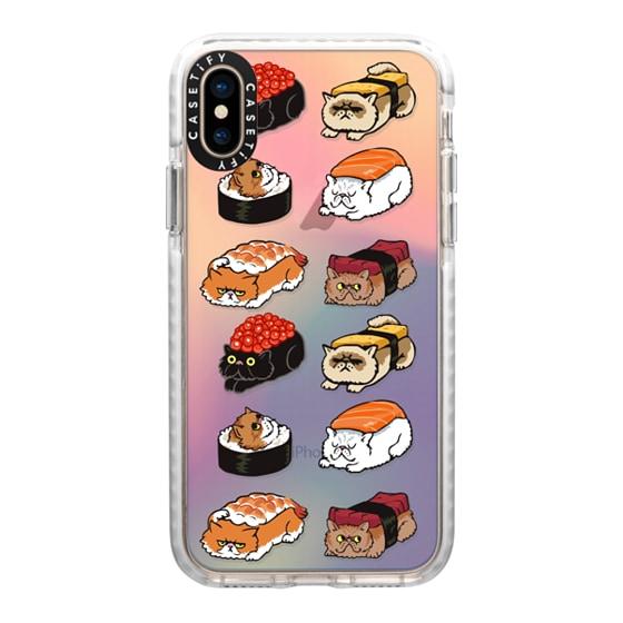 CASETiFY iPhone Xs Impact Case - Sushi Cat