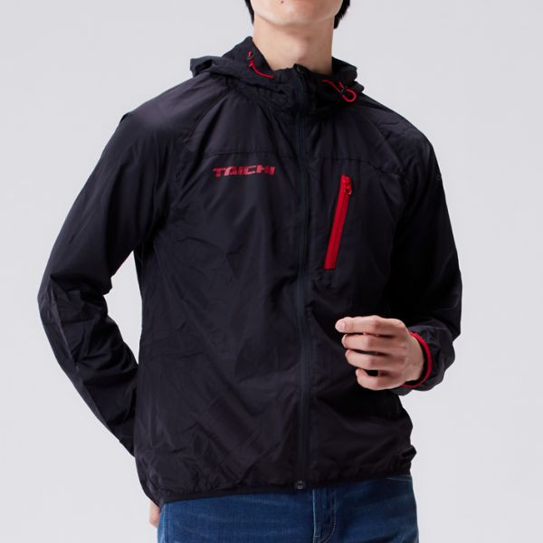 RS TAICHI 防風 連帽外套 RSU287 輕薄 不黏膚 迅速收納【立昇現貨|滿額贈|加價購】黑紅