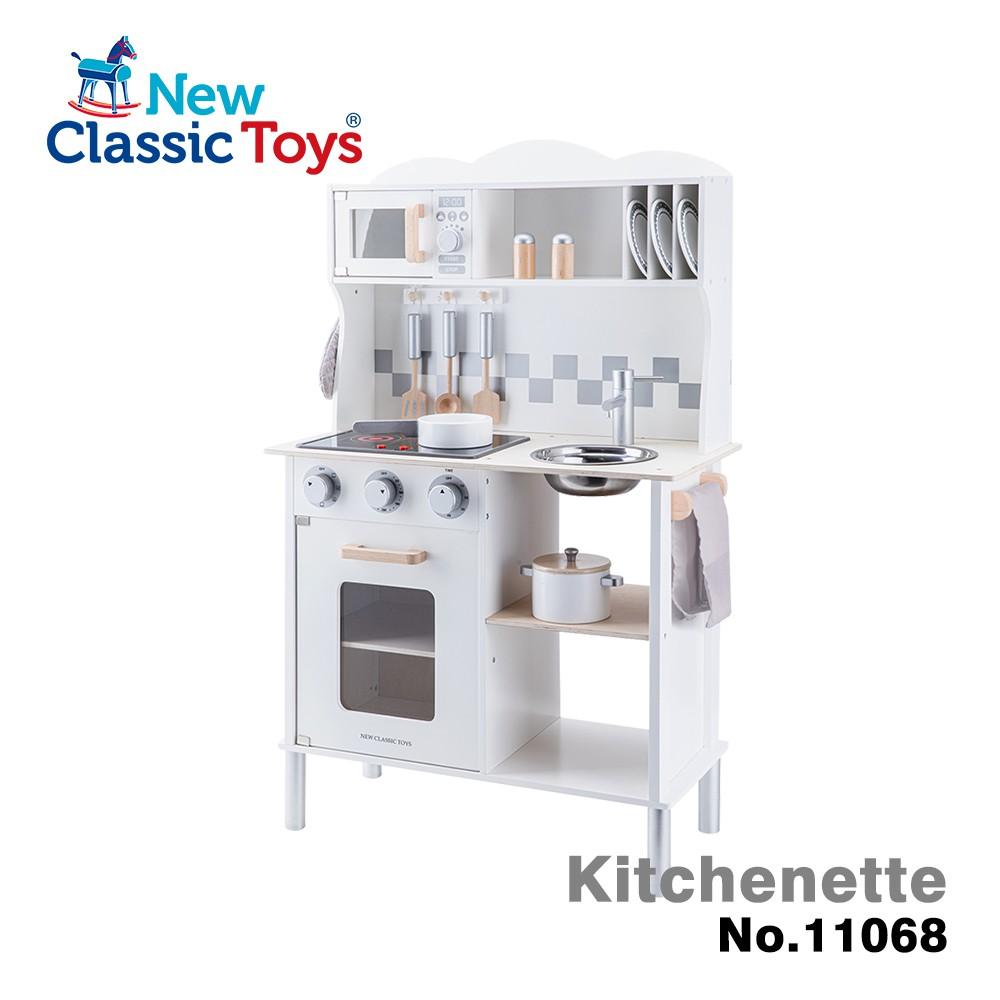 【荷蘭New Classic Toys】聲光小主廚木製廚房玩具(天使白-含配件12件)