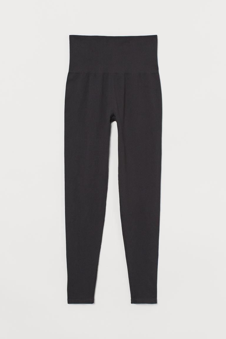 H & M - 無痕緊身運動褲 - 黑色