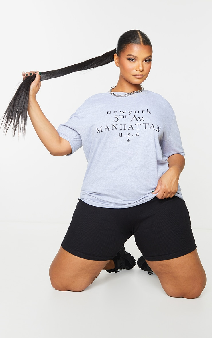 Plus Grey 5th Ave Manhattan T Shirt