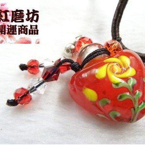 NO.42R紅精油雕花瓶中國結項鍊「直購價」【Ruby工作坊】【紅磨坊晶玉設計】