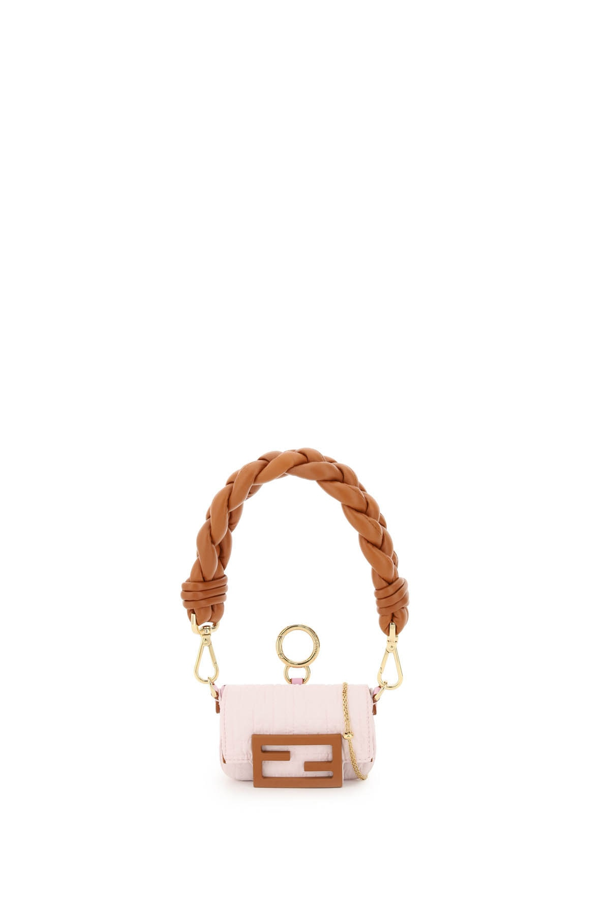 FENDI 0 OS Pink, Brown Technical, Leather