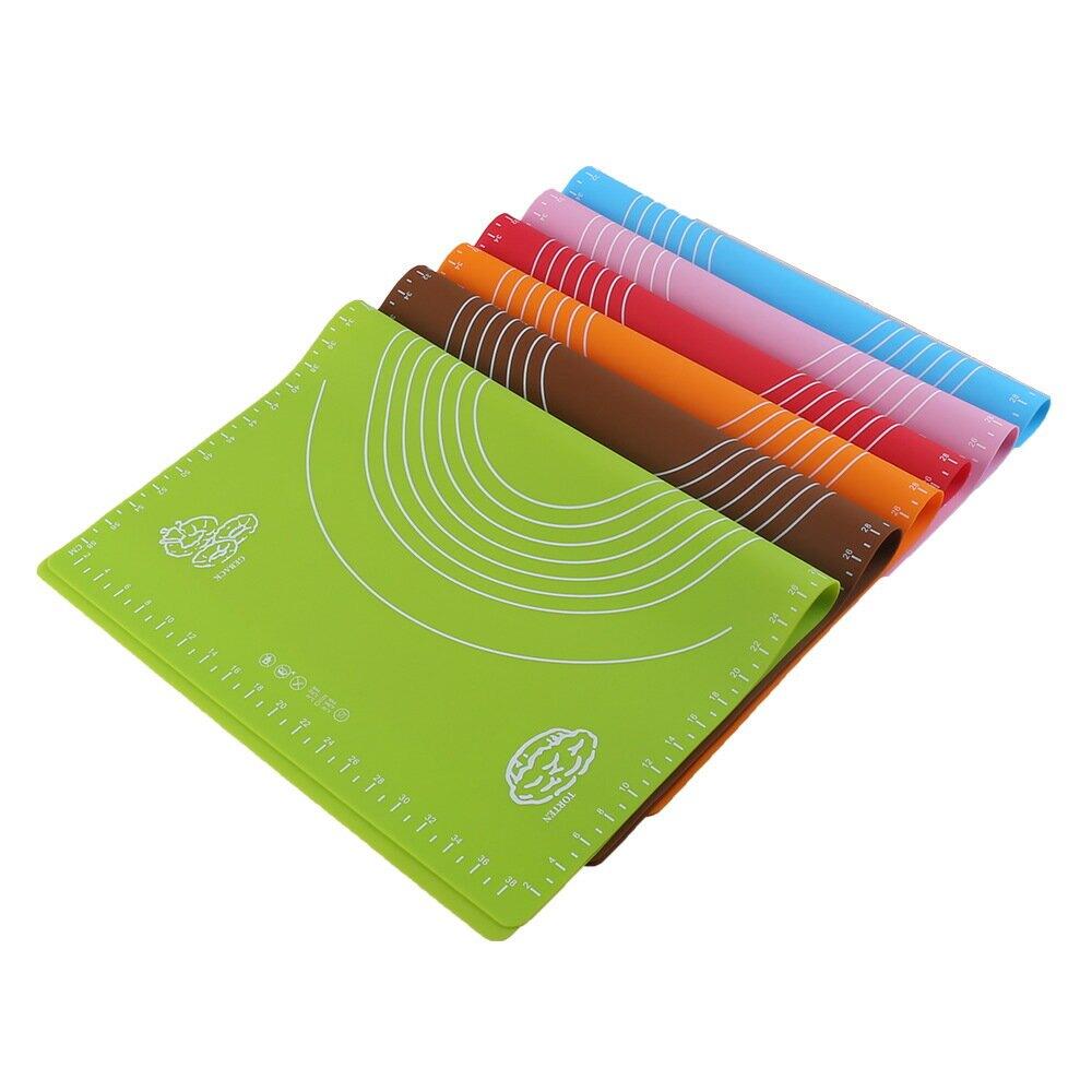 60X40 40X30CM硅膠案板硅膠墊片帶刻度擀麪揉麪墊麪粉和麪墊餐墊