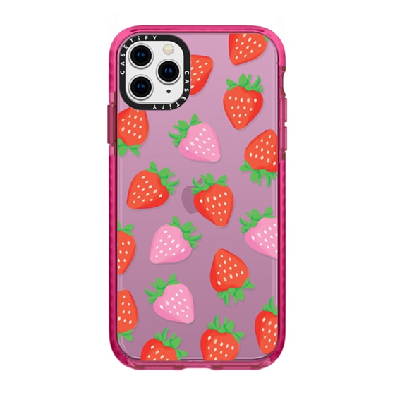 CASETiFY iPhone 11 Pro Max Impact Case - STRAWBERRY