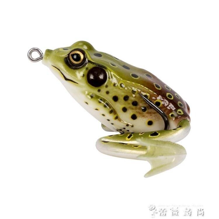 新品上市 限時優惠款 仿真雷蛙40mm6.0g雷蛙水面系雙鉤黑魚餌 路亞餌