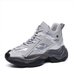 【Taroko】星光點點金屬炫色黑灰厚底運動休閒鞋(4色可選)