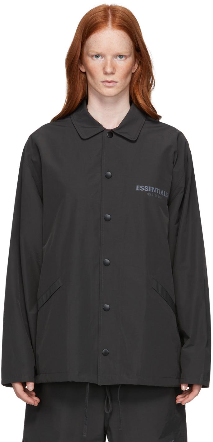 Essentials 黑色教练夹克