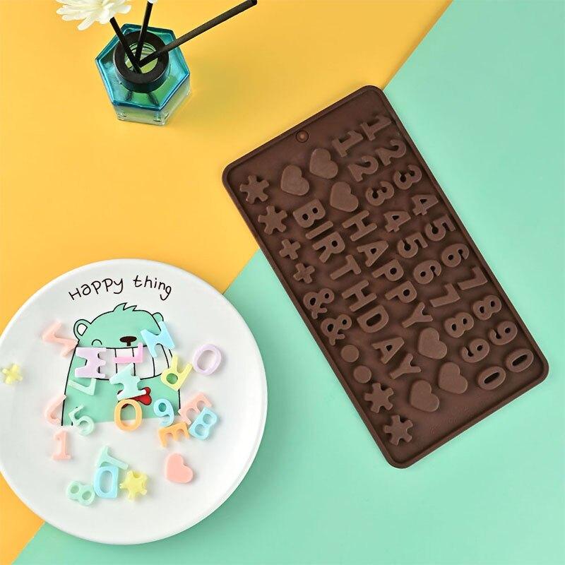 卡通巧克力硅膠模具愛心布丁果凍冰塊奶酪字母糖果冰格烘焙磨具