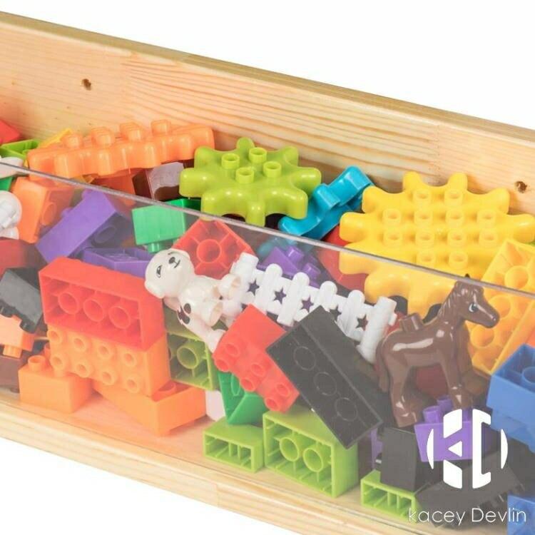 積木墻積木槽兒童積木收納箱收納槽實木亞克力玩具墻壁幼兒園拼插【聚物優品】