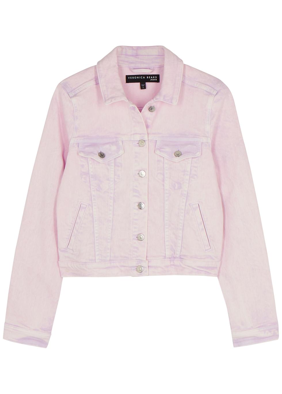 Cara lilac stretch-denim jacket