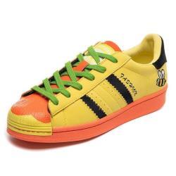 【Taroko】鮮黃小蜜蜂花朵貝殼圓頭真皮休閒鞋(3色可選)