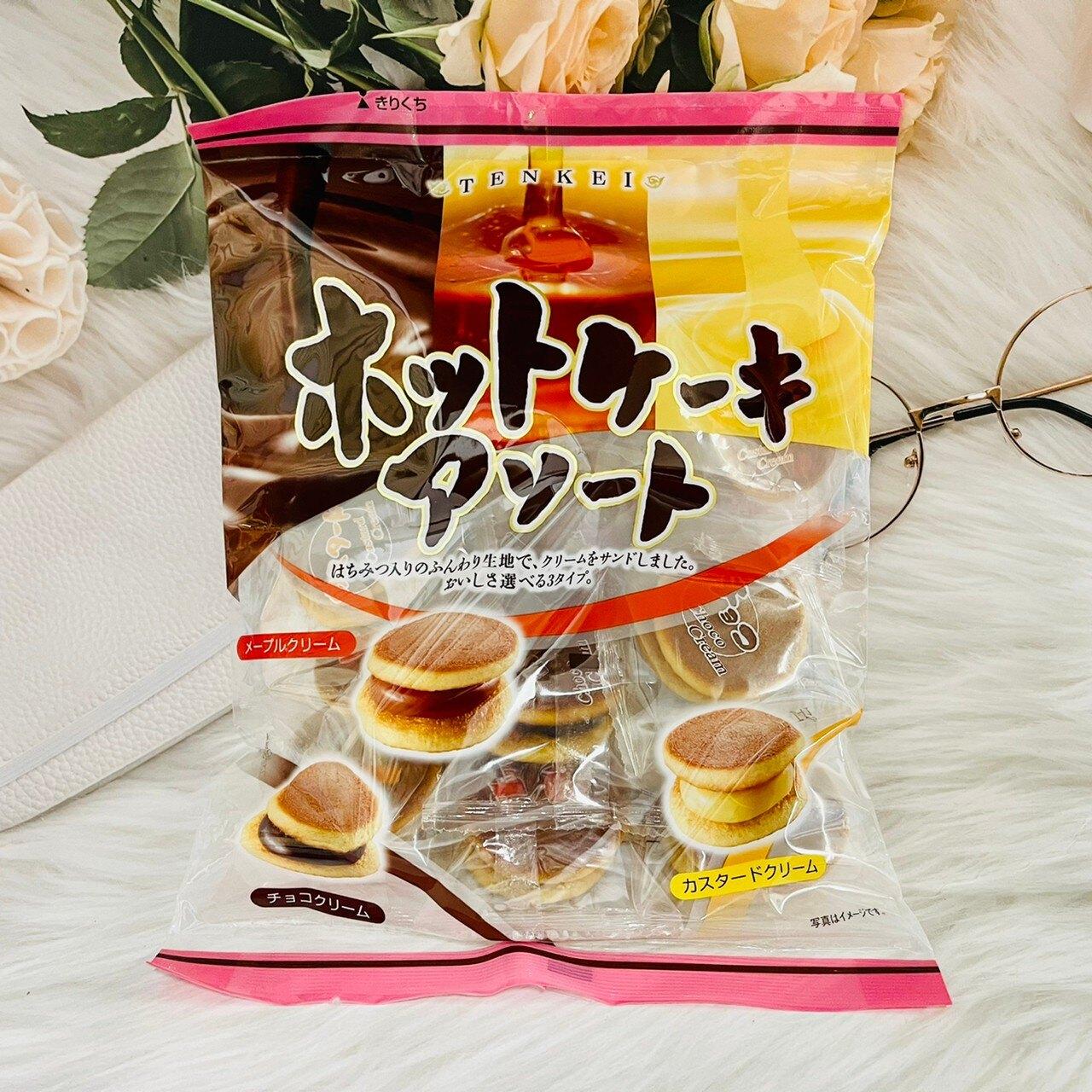 日本 天惠製果 綜合迷你銅鑼燒 小朋友的最愛 174g(卡士達/可可/楓糖奶油)