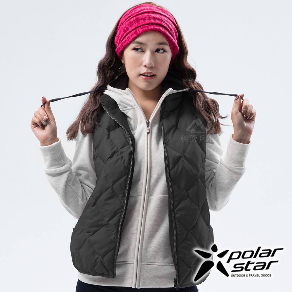 PolarStar 女 雙面穿羽絨背心『炭灰』P18256