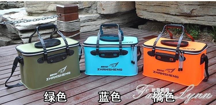 新品上市 限時優惠EVA加厚活魚桶 裝魚桶摺疊水桶水箱釣箱 釣魚桶魚箱釣魚箱 魚護桶