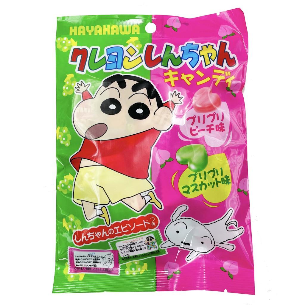 日本 早川 小新心型綜合水果味糖 79g 蠟筆小新 水果糖 糖果