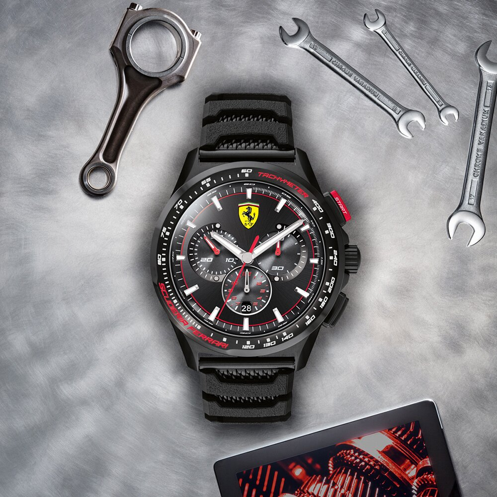 Scuderia Ferrari 法拉利 Pilota 全球限量瑞士石英計時手錶 FA0830738